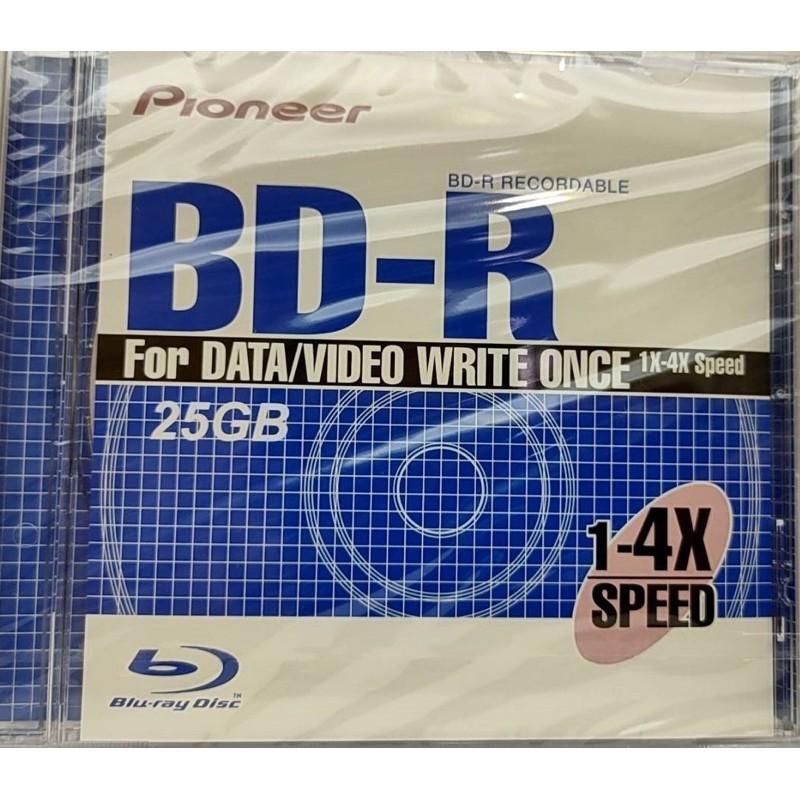 全新先鋒PIONEER 25G BD-R片/4X/單片裝藍光燒錄片用不到便宜賣