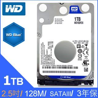 附發票 NB硬碟 WD 藍標 7mm 1T 1TB 10SPZX 2.5吋 5400轉 WD10SPZX 臺北市