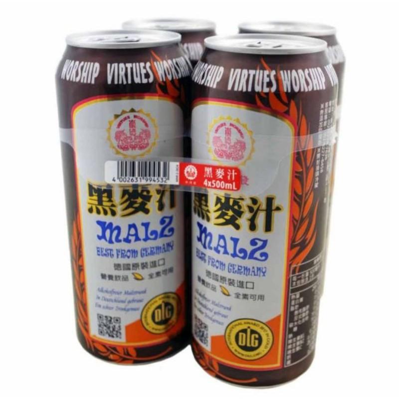 德國原裝進口【崇德發】黑麥汁  500ml*4/組