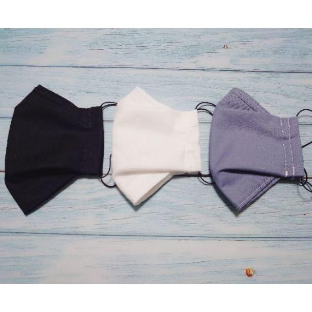 手工日本布料及台灣二重紗製作的立體可更換濾芯布口罩、舟船型、韓式 KF94 版型、有鼻梁片、包覆性更好