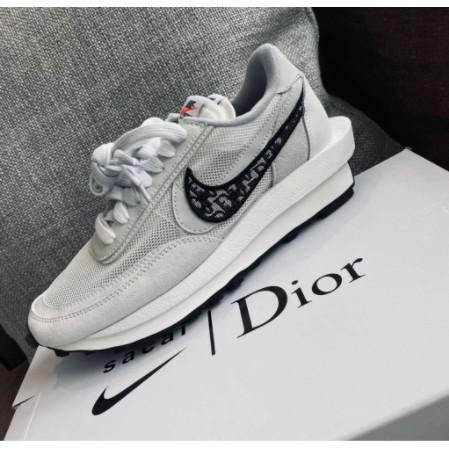 全新正品 AD-Nike x Sacai x Dior 聯名 20新款 白灰 休閒鞋