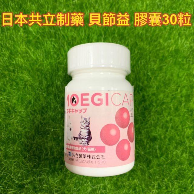 【MIGO寵物柑仔店】日本共立製藥 貝節益 膠囊 30粒 綠貽貝/寵物關節保養