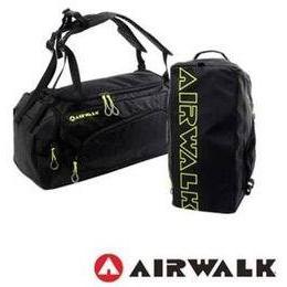 勝德豐 AIRWALK 休閒兩用運動圓筒旅行袋/健身包/運動包/後背包/手提包/側背包/斜背包#A4313234黑