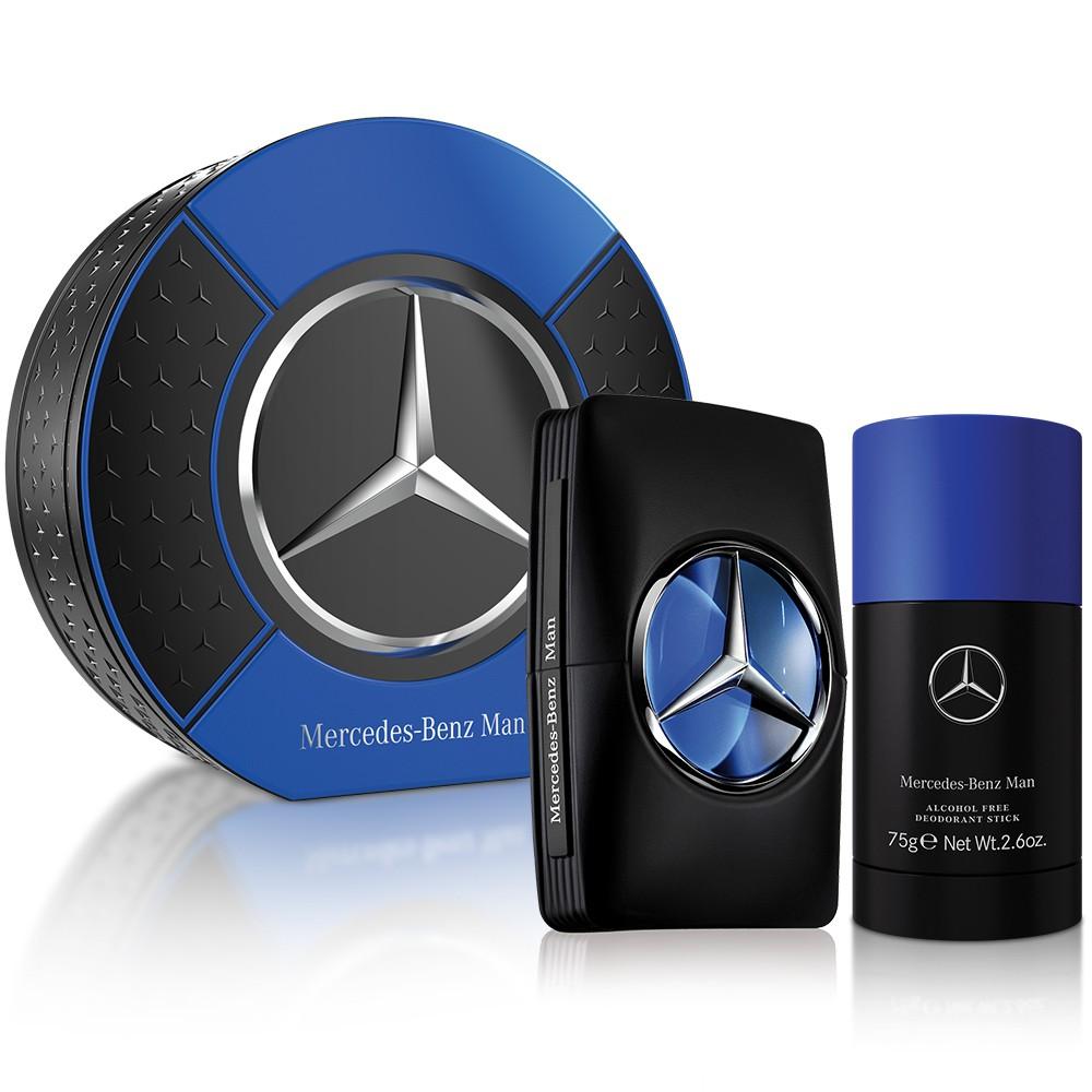 Mercedes Benz 賓士王者之星男性淡香水禮盒(淡香水100ml+體香膏75g)