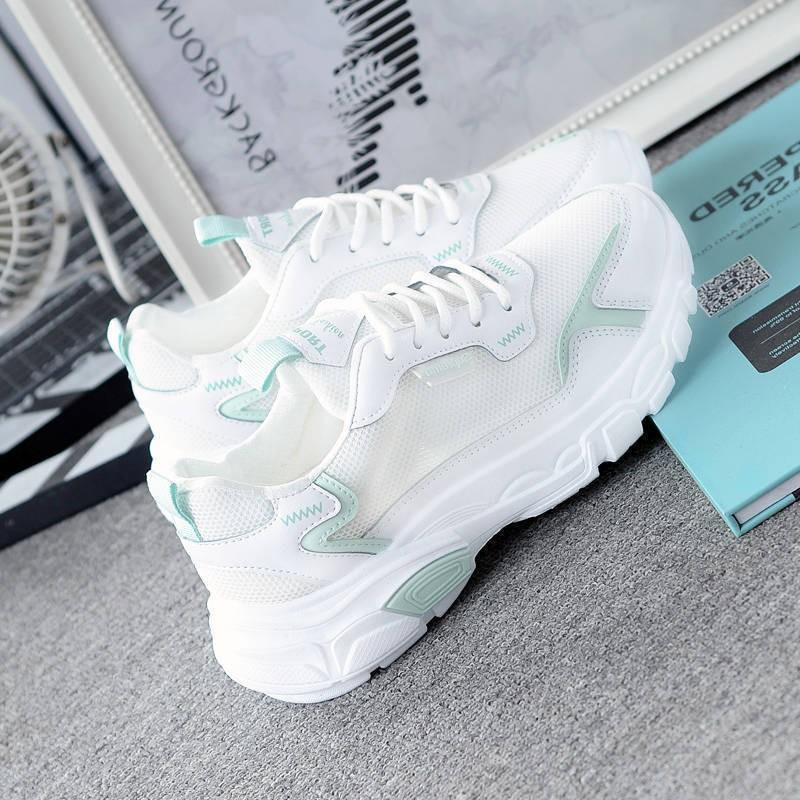 Kasut Perempuan 2020 新款夏季運動鞋女夏季透氣學生韓版百搭原宿風網紗白鞋網鞋女