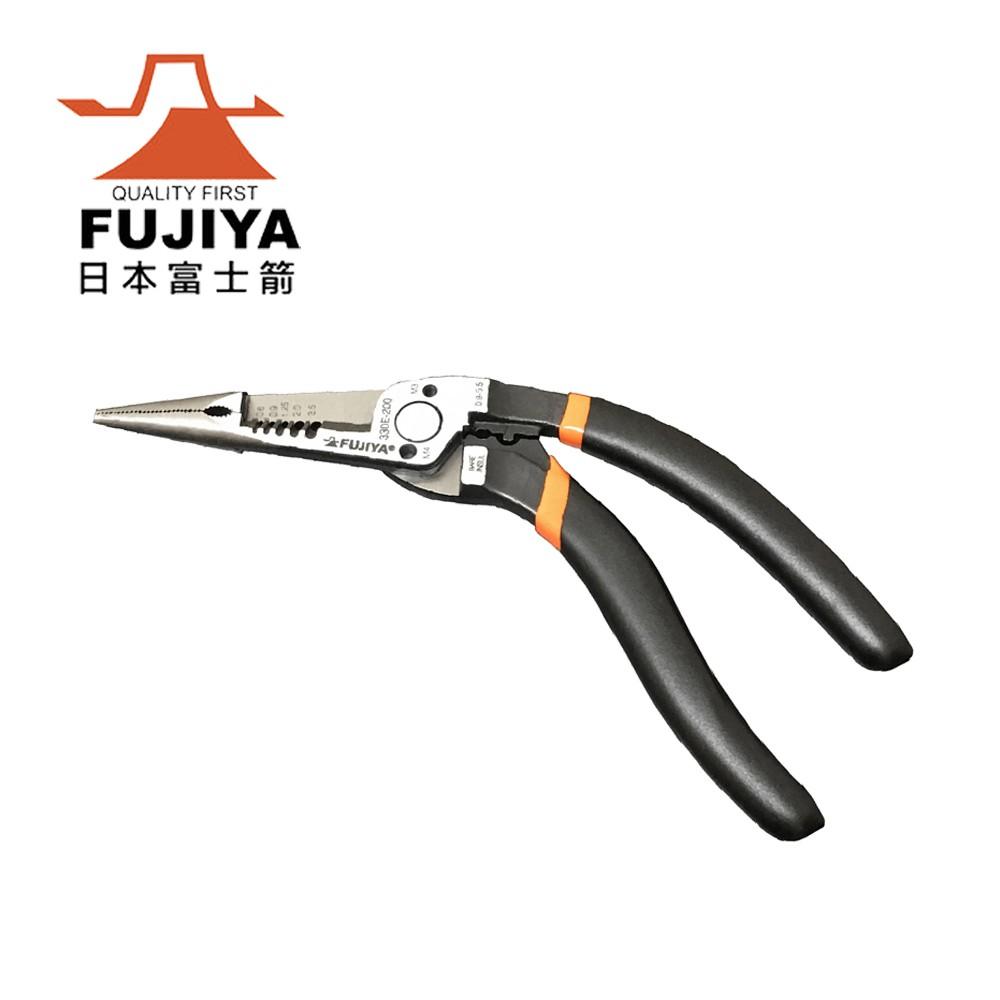 【日本Fujiya富士箭】配電型彎型尖口鉗200mm