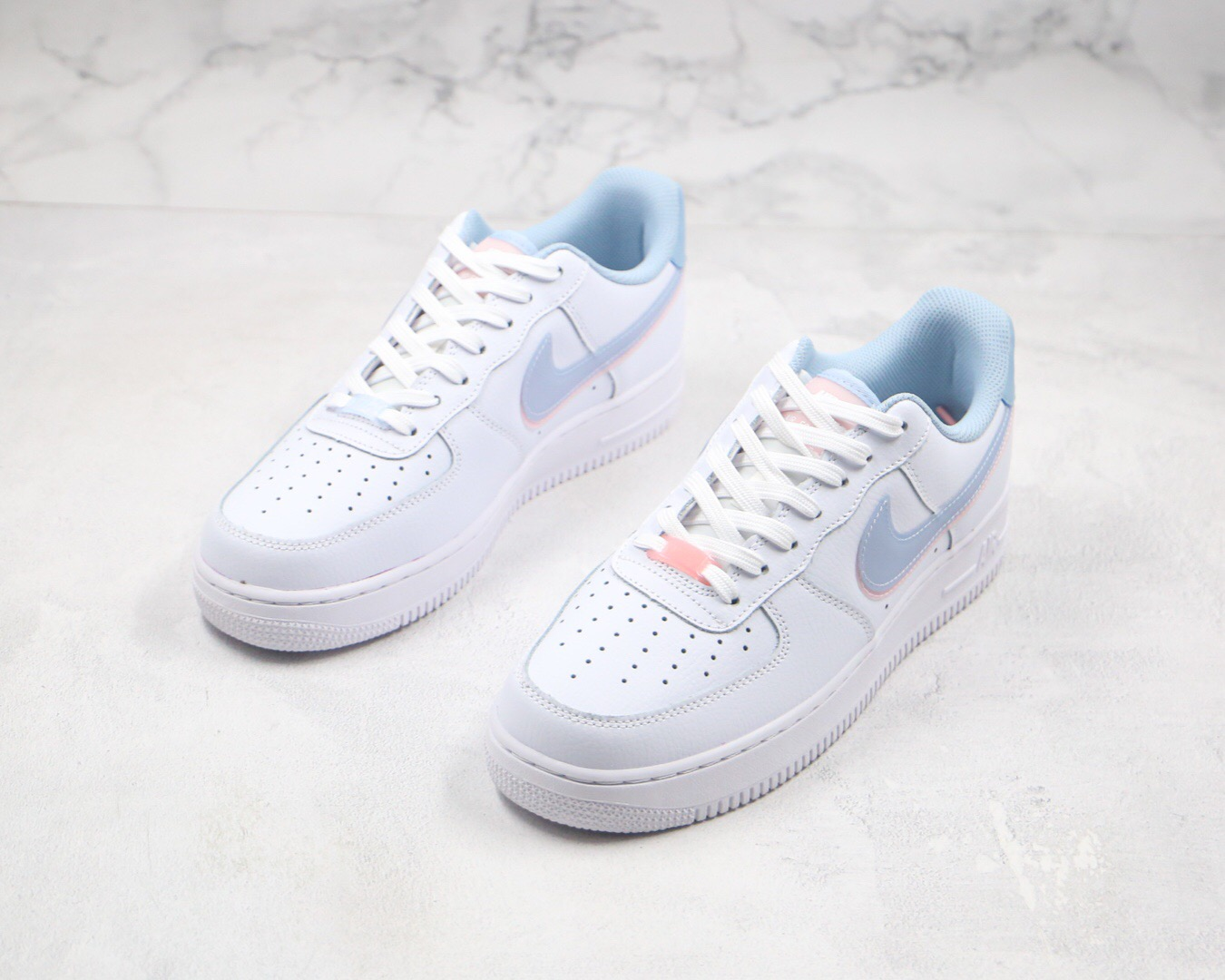 [Date19] Nike Air Force 1 Gs 藍粉 果凍 雙勾 藍 粉 水藍 透明 CW1574-100