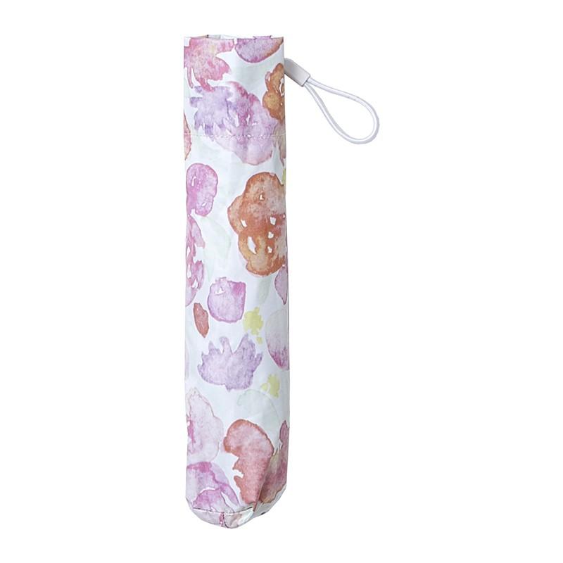【日本直送】現貨 estaa 日本水彩風 輕量 120g 防UV 遮光遮熱 晴雨兼用 折傘 - 花球(粉紅)