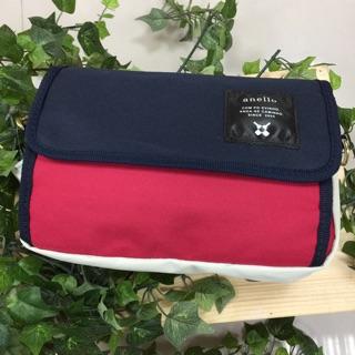 日本正貨【現貨】 anello 多功能旅行斜肩包-紅藍白色 新北市