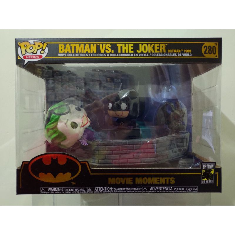 DC 1989電影版 蝙蝠俠V小丑場景組 Batman VS. The Joker Funko POP #280
