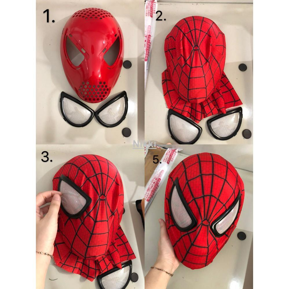NikkiDMG 蜘蛛人系列 蜘蛛人緊身衣Cosplay 面部塑形面具 口罩 卡扣式 磁吸式