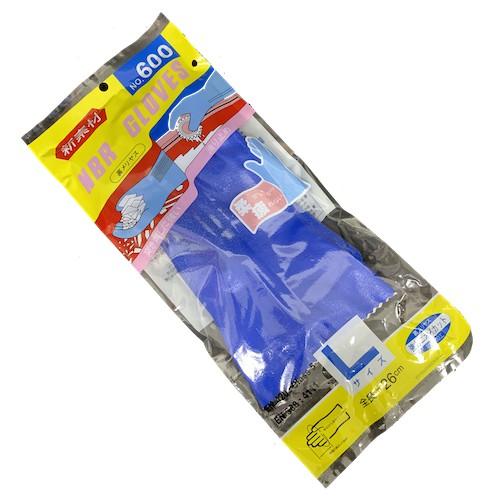 長26cm藍色 600型內棉【NBR止滑耐油手套】NO.600 塑膠手套 清潔手套 漁業 抓魚 殺魚 農業 NO.630