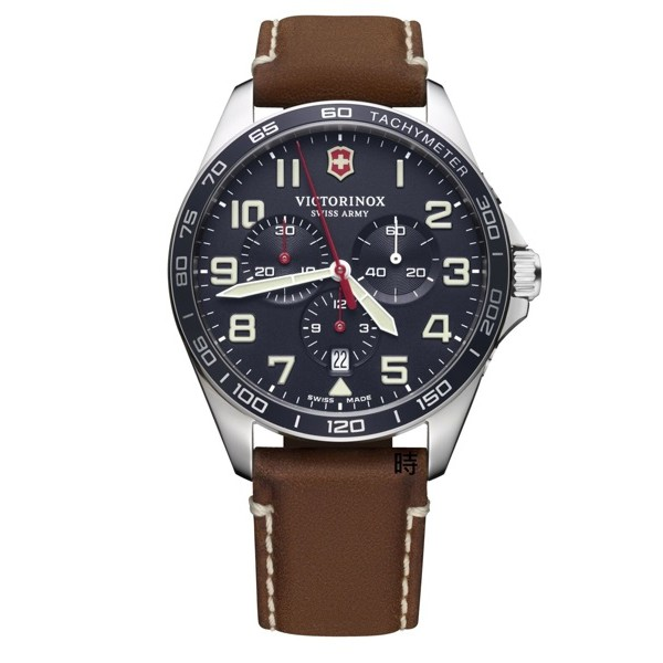 VICTORINOX 瑞士維氏 SWISS ARMY (VISA-241854) 三眼計時手錶 藍/42 mm