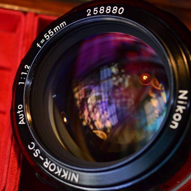 "Nikon Nikkor S. C. auto 55mm F1.2 ""夜之眼""大眼睛人像鏡皇(已改Ai)"