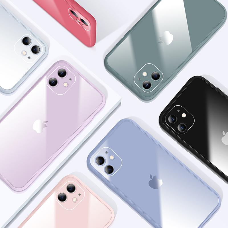 蘋果手機殼 iPhone 11 Pro Max 6 6s X XS MAX XR 7 8 Plus液態玻璃殼防摔保護殼