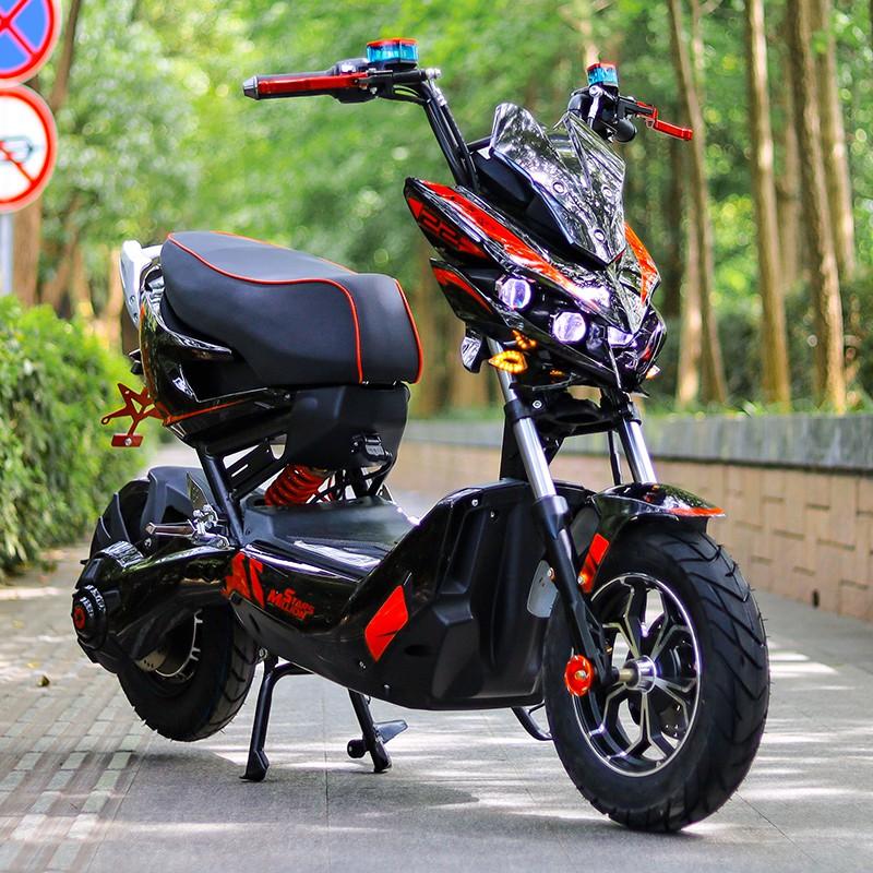 【現貨 免運】x戰警電瓶車 電摩72v踏板改裝 極客電動摩托車 高速戰狼電動車網紅