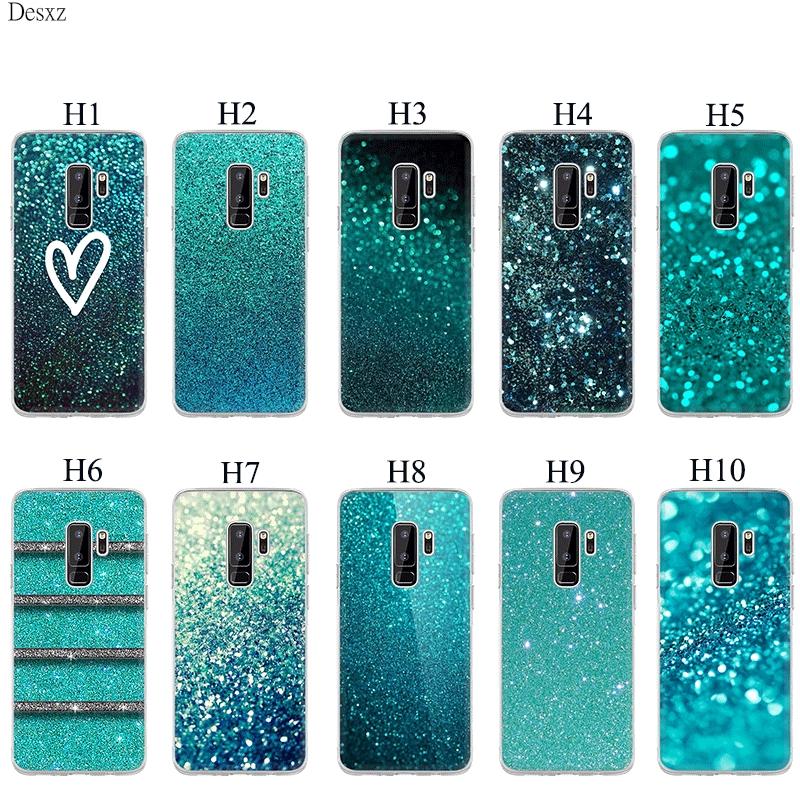 三星S7 S6 Edge S8 S9 S10 Plus S10 E硬殼綠色薄荷閃光手機殼