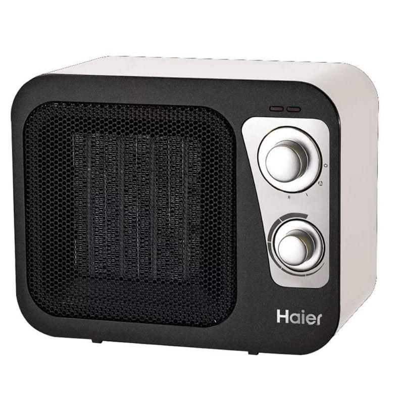 Haier 海爾 復古陶瓷電暖器HPTC906W (白) HPTC906D (木紋) 團購福利百貨專櫃暖風機國際牌日立