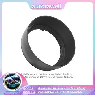 Aurorawell 佳能EF 28mm f2.8的EW-65ⅡABS安裝鏡頭遮光罩更換