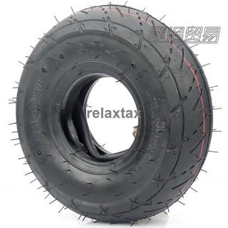 正品品質🎁 迷你摩托車配件 小四輪小沙灘車車輪胎3.00-4內外胎彎嘴內胎y1230