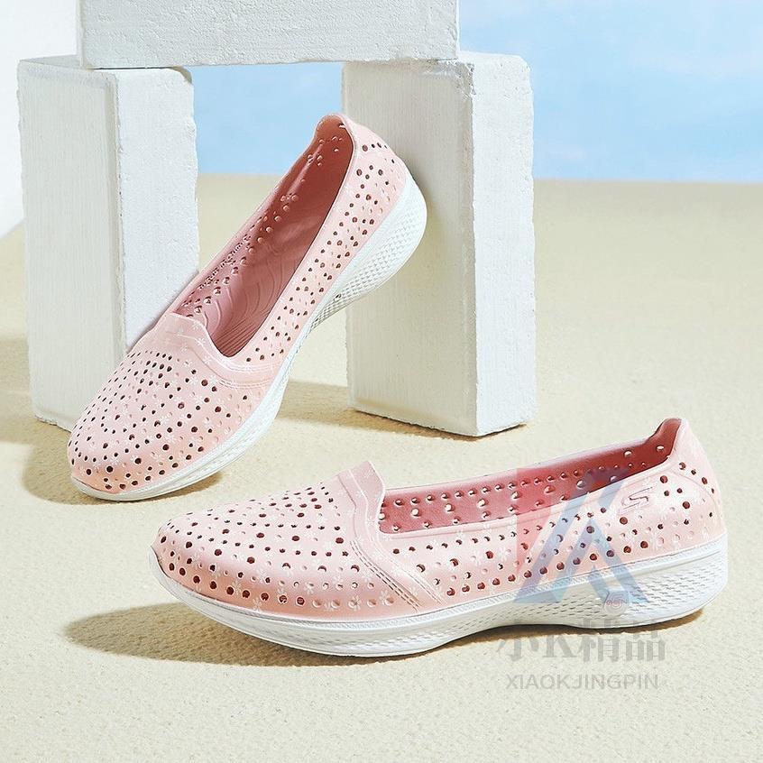 小K精品✿🌸Skechers斯凱奇女鞋輕質舒適透洞洞鞋百搭女款氣疏防水雨鞋水戶外休閒洞洞沙灘鞋平底鞋