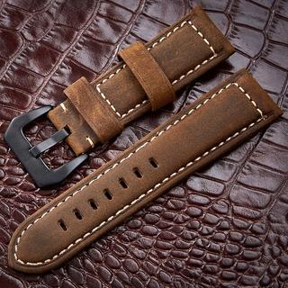 現貨爆款 雙面意大利進口頭層牛皮錶帶 通用瘋馬磨砂真皮手錶帶 運動戶外手錶帶男士粗獷風格 20/ 22/ 24mm 26mm