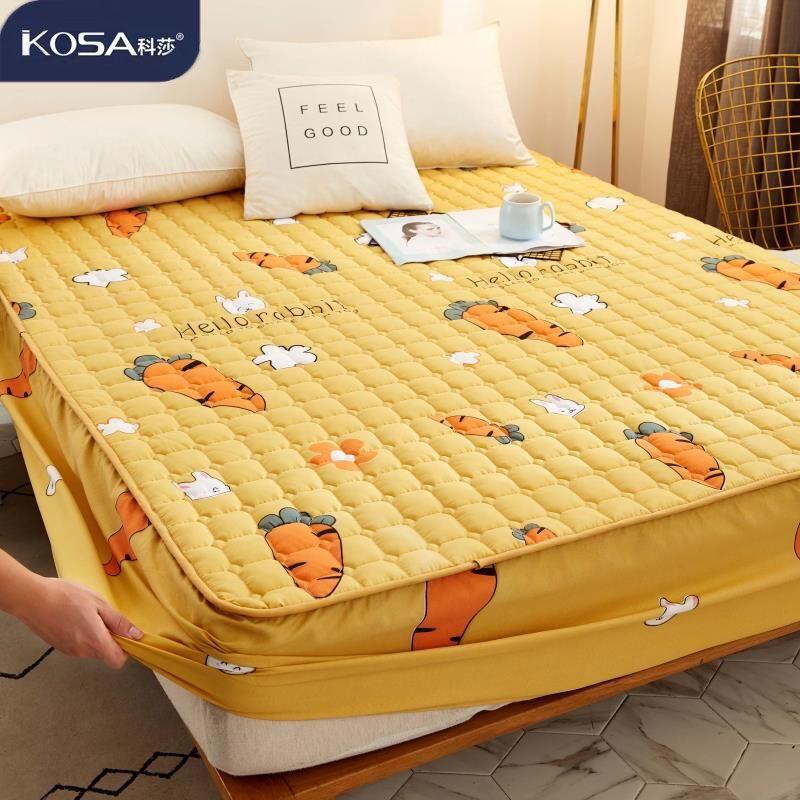 熱賣 120X200 150X200 雙人床包 加厚床包 加棉床笠 家用寢具加棉床單 床笠加棉 居家 保潔墊 透氣 親膚