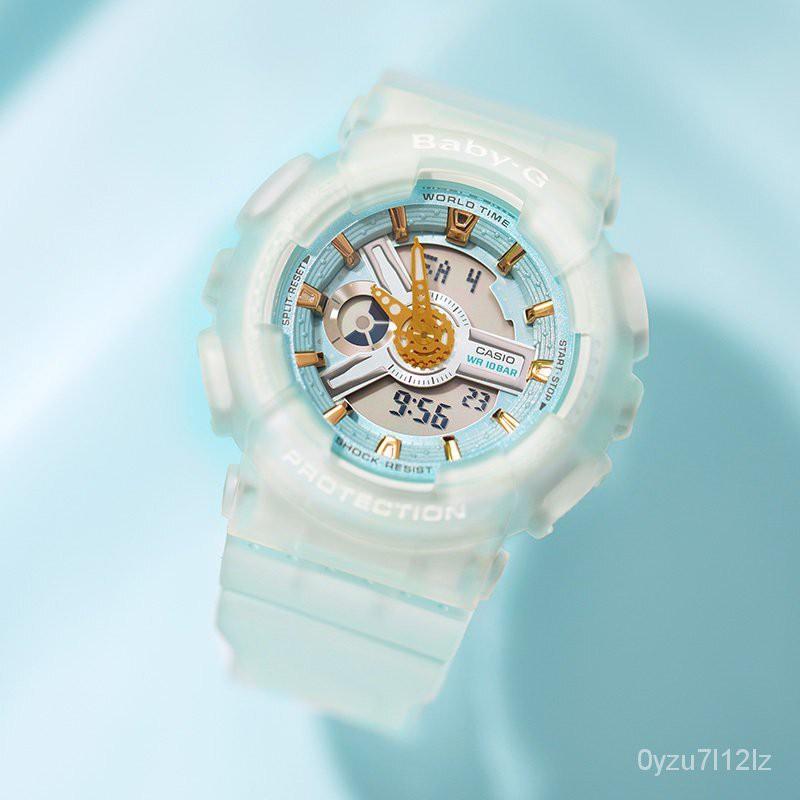 卡西歐(CASIO)手錶BABY-G系列時尚運動防水防震學生電子錶多功能雙顯石英女腕錶 jt7J