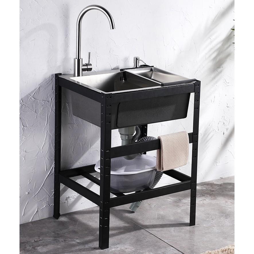 (特價特賣)廚房不銹鋼水槽 洗手臺 水池 洗手盆 洗菜盆 簡易水槽 雙槽 不鏽鋼洗手臺 洗手臺 洗碗池 不鏽鋼洗手盆