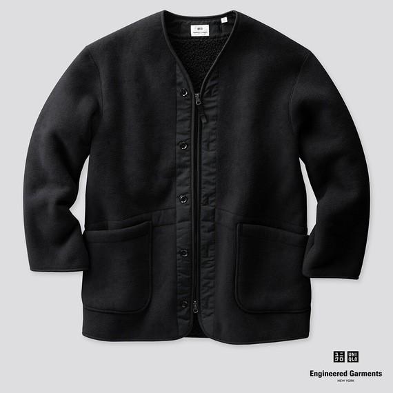 |Eddie_Store|日本 🇯🇵 Engineered Garments UNIQLO 羊毛無領外套 質感 保暖