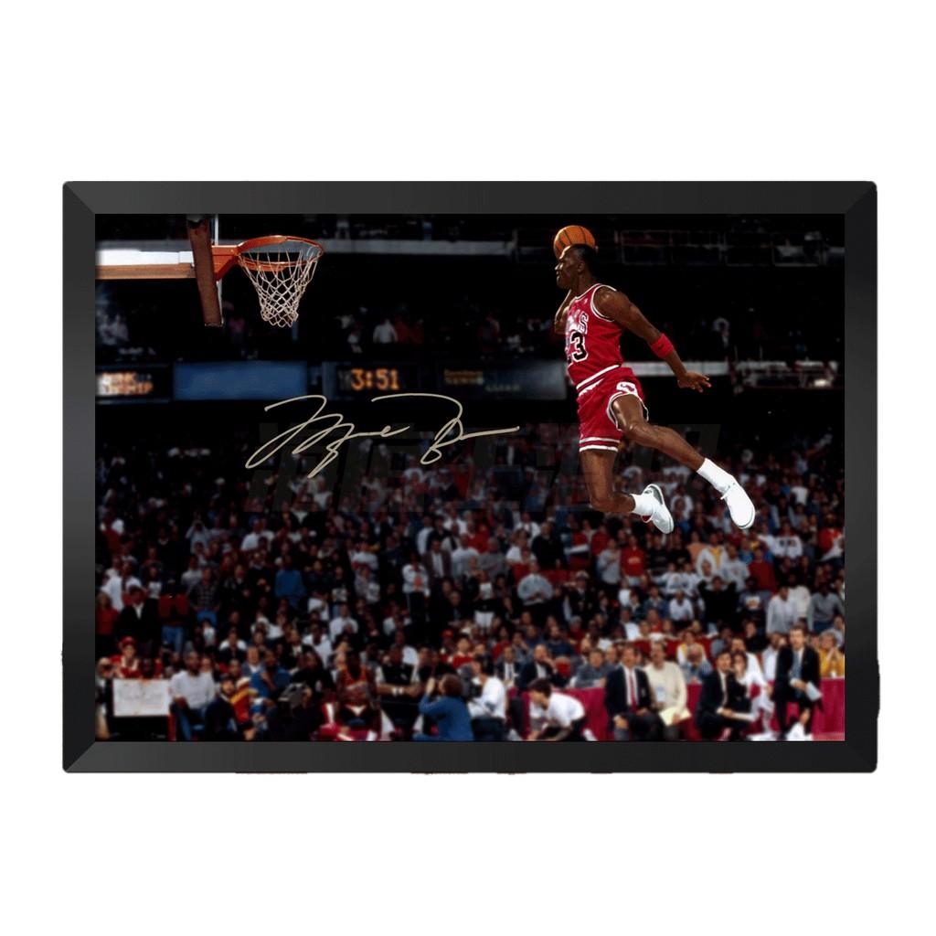 [現貨]彩色裝飾海報 jordan 飛人7 MJ 麥可喬丹 籃球之神 臥室宿舍客廳牆畫文青nba海報咖啡廳