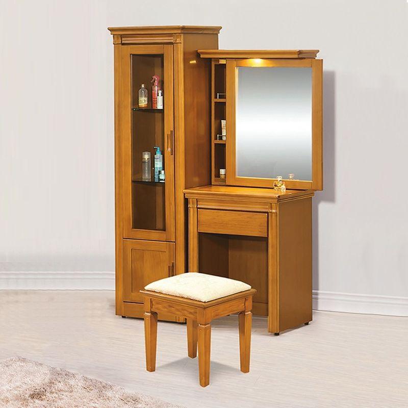 【YA158-6】亞緹香檜3.5尺化妝台(含椅)