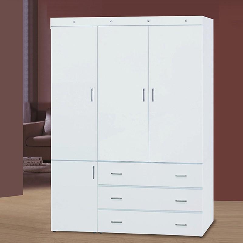 【EA214-474】寶貝白色4X7尺衣櫥
