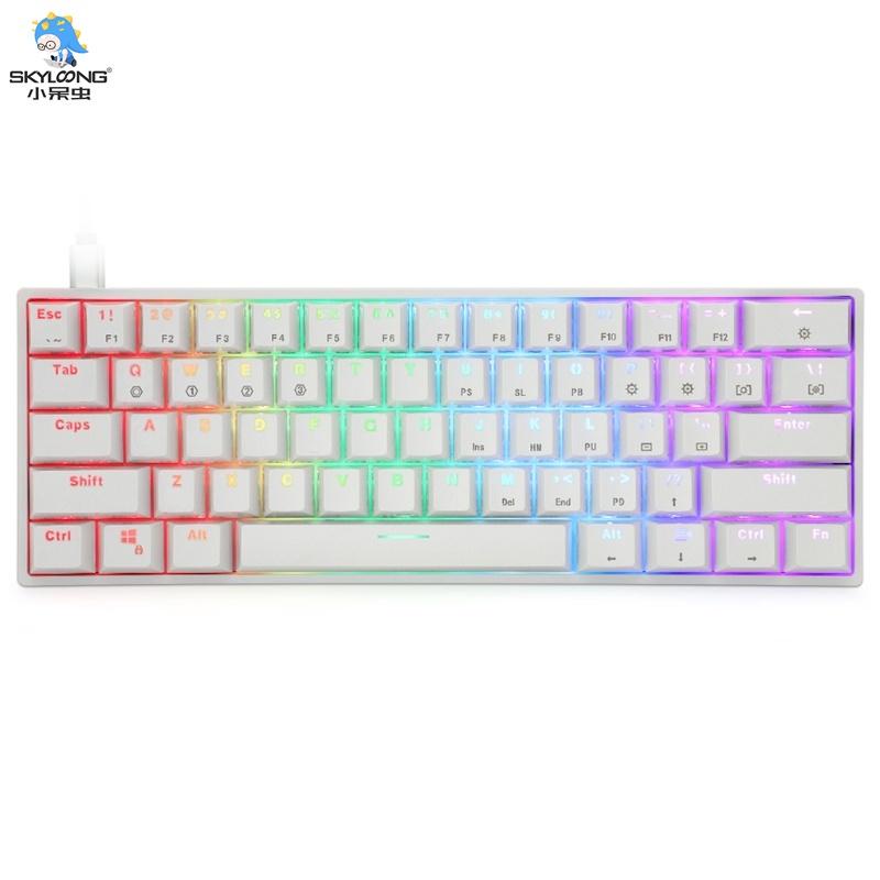 【天窗】 Sk61 61 鍵有線 USB 鍵機械鍵盤 led 背光軸遊戲台式機械鍵盤 60%