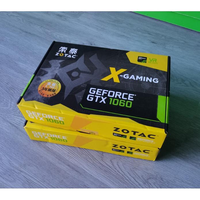 現貨 索泰GTX1060 6G X-gaming OC 信仰燈 吃雞遊戲顯卡6G雙風扇 17W分 快速出貨