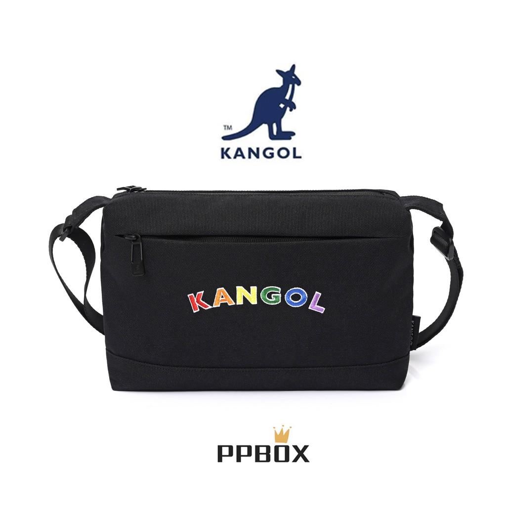 KANGOL 袋鼠 側背包 彩虹包 經典 LOGO 限量款【60553800】