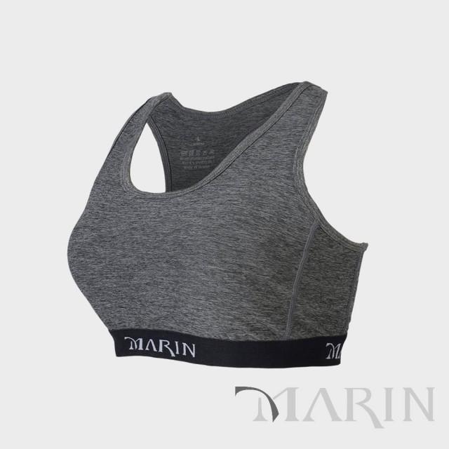 MARIN 鋅離子 中度支撐型運動內衣(灰)