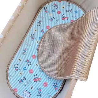 【喂奶冰絲手臂席】【限時下殺】新生兒電動搖籃涼席墊竹席嬰兒吊床冰絲席嬰兒床席新寄托搖籃涼席