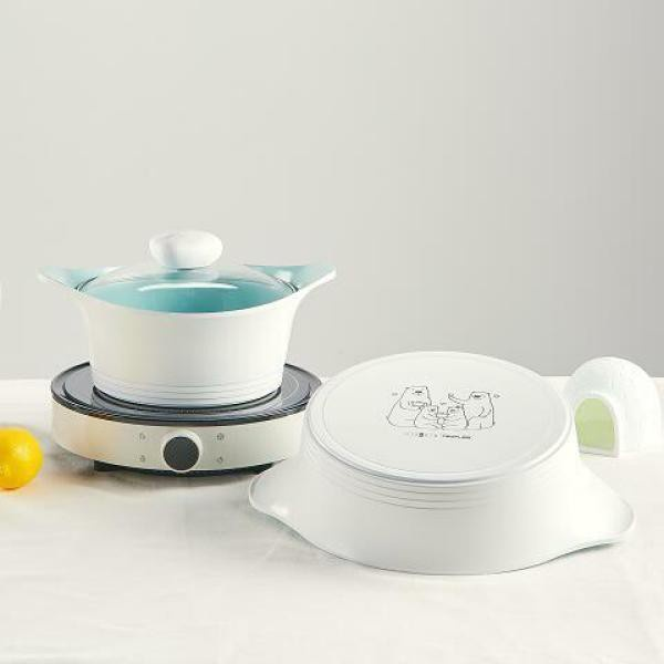 韓國NEOFLAM 北極熊平底鍋 2件套組 北極熊湯鍋套組 限量版 聯名商品 Icy5