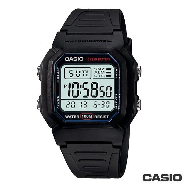 【CASIO】W-800H-1A 10年電力經典造型電子錶/防水100M/男女通用/36mm【第一鐘錶】