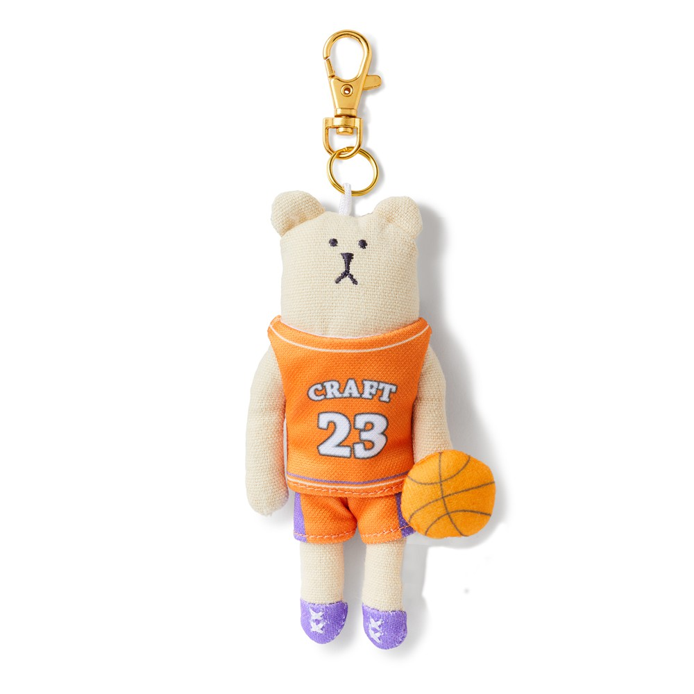 CRAFTHOLIC 宇宙人 籃球選手熊吊飾 (限定款)