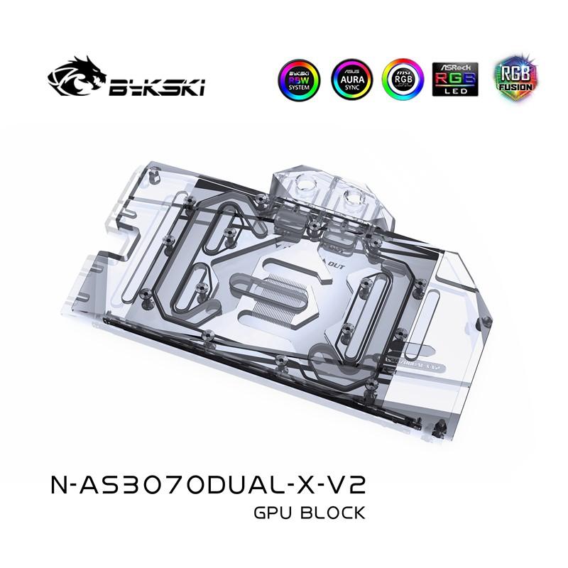 Bykski 水塊用於 Asus Geforce Dual / Tuf Rtx 3070 / 3060ti 8g 遊戲