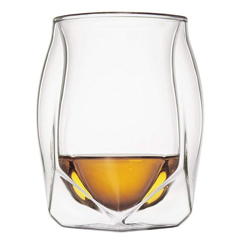 潮尚風 雙層威士忌杯 超小眾酒杯 Glen Norlan諾蘭杯雙層酒杯 ins網紅杯 180ml 手工酒杯 歐式無鉛玻璃