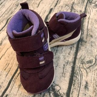 「二手」Asics亞瑟士女寶14公分深紫高筒鞋14cm童鞋 高雄市