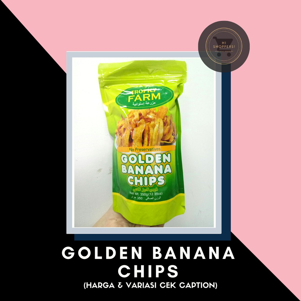 Tropics Farm Golden Banana Chips / Keripik Pisang / 香蕉片
