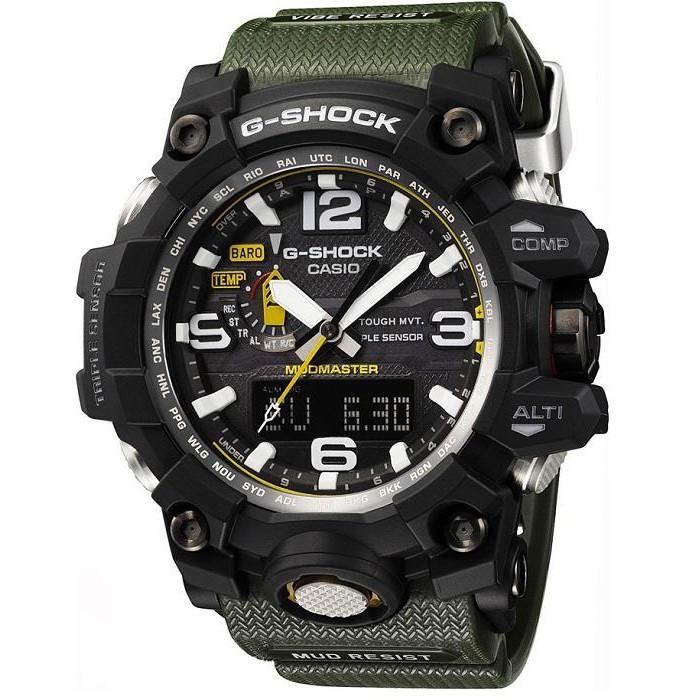 【金台鐘錶】CASIO卡西歐G-SHOCK 電波錶 數位羅盤 高度測量防泥構造 海陸空系列 GWG-1000-1A3