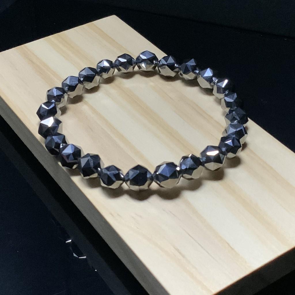 鈦赫茲鑽切 手珠 手鍊  可融冰  7mm+ 手圍15cm