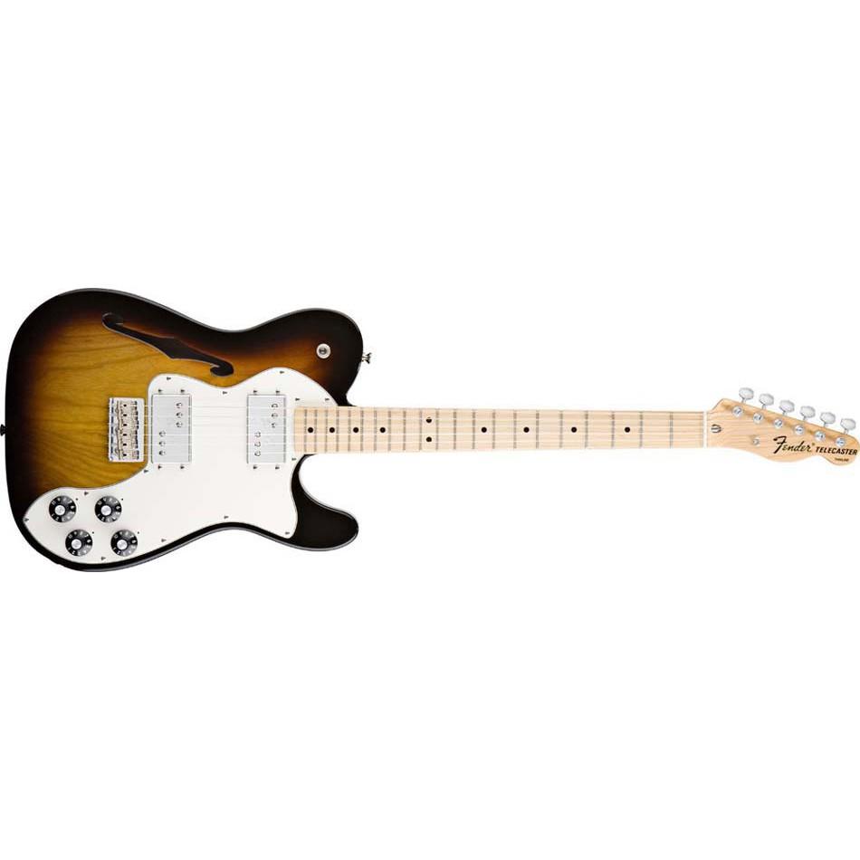 【又昇樂器 . 音響】Fender Classic Player Tele Thinline 3TSB 半空心 原廠琴袋