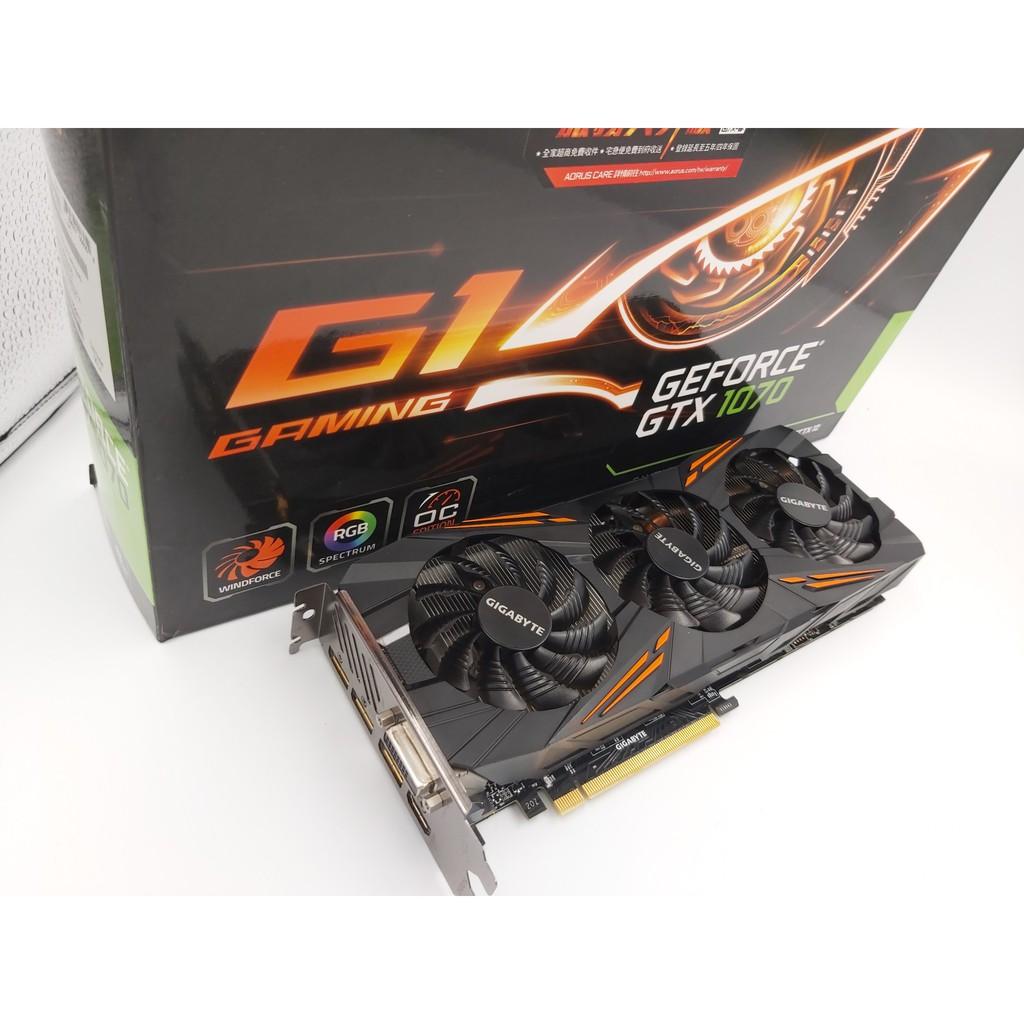 外觀漂亮! 無受損 ! GIGABYTE GeForce GTX 1070 G1 Gaming 8G原廠保固內 現貨