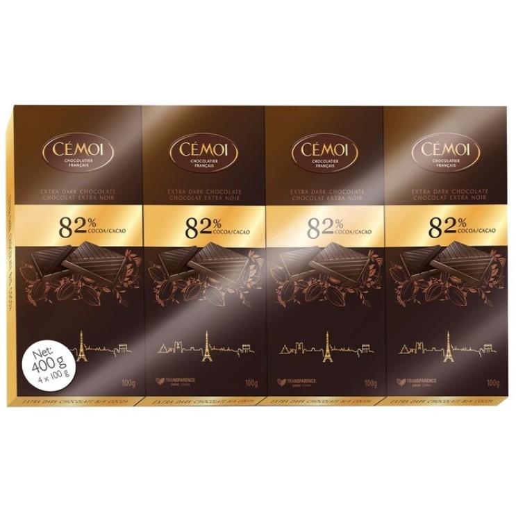 小Q代購🔥 熱門商品 代購🔥 82% 黑巧克力 100公克 X 4入 巧克力  純巧克力 濃巧克力 強力推薦
